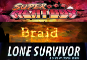 Super Meat Boy+ Lone Survivor+ Braid Steam CD Key