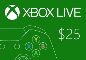 XBOX Live $25 Prepaid Card US