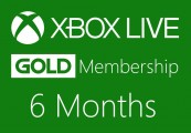 XBOX Live 6-month Gold Subscription Card EU