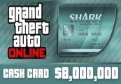 Grand Theft Auto Online - $8,000,000 Megalodon Shark Cash Card PC Activation Code