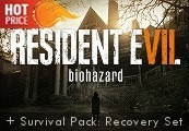 Resident Evil 7: Biohazard + Survival Pack: Recovery Set DLC RoW Clé Steam