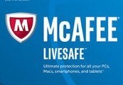 McAfee LiveSafe 2018 (1 Year / Unlimted Devices)