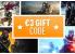 €3 Geschenkcode - Einer pro Account!