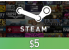 Steam Gift Card $5 Global Activation Code