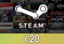Steam Wallet Card €20 Global Activation Code