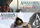 Assassin's Creed 5 Unity u. Assassin's Creed 4 Black Flag Xbox One