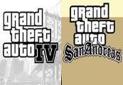 Grand Theft Auto IV + Grand Theft Auto: San Andreas Steam CD Key