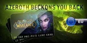 World of Warcraft 60 dias Pre-Pagos Time Card EU   Kinguin