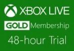 XBOX Live 48-hour Gold Trial Membership EU