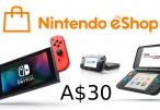 Nintendo eShop Prepaid Card A$30 AU Key