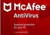 McAfee AntiVirus Key (1 Year / 1 PC)