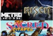 Metro 2033, Risen and Sacred Citadel Steam CD Key