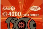Fallout 76: 4000 (+1000 Bonus) Atoms US PS4 CD Key