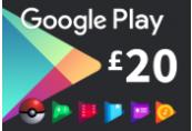 Google Play £20 UK Gift Card