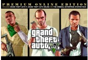 Grand Theft Auto V Premium Online Edition & Great White Shark Card Bundle Rockstar Digital Download CD Key