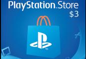 PlayStation Network Card $3 US