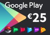 Google Play €25 EU - Eurozone only Gift Card