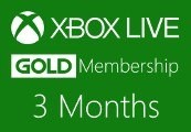 XBOX Live 3-month Gold Subscription Card UK