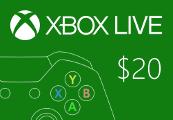 XBOX Live $20 Prepaid Card US