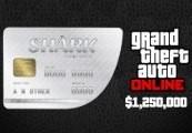Grand Theft Auto Online - $1,250,000 Great White Shark Cash Card EU PS4 CD Key