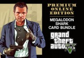 Grand Theft Auto V: Premium Online Edition & Megalodon Shark Card Bundle Rockstar Digital Download CD Key