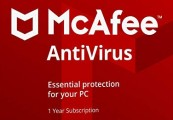 McAfee AntiVirus Key (1 Year / 1 PC)