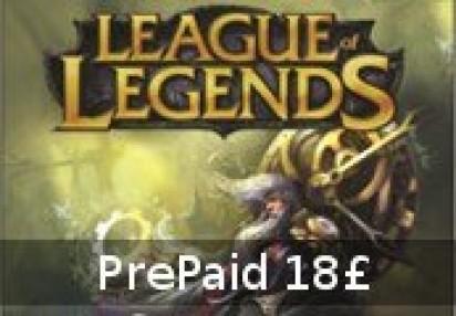 League of Legends 18 GBP Prepaid RP Card EUW & EUNE