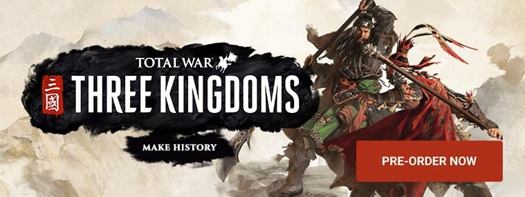 Total War: THREE KINGDOMS PRE-ORDER EU Steam CD Key   Kinguin