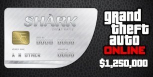 Grand Theft Auto Online - $1,250,000 Great White Shark Cash Card XBOX One CD Key | Kinguin