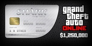 Grand Theft Auto Online - $1,250,000 Great White Shark Cash Card PC Activation Code | Kinguin