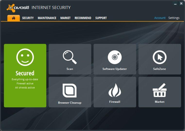 Resultado de imagen de avast internet security 2018