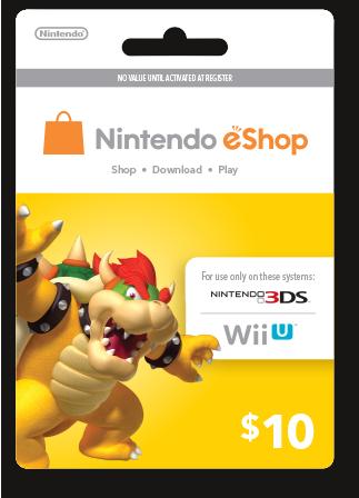 eShop Prepaid Card $10 US Key