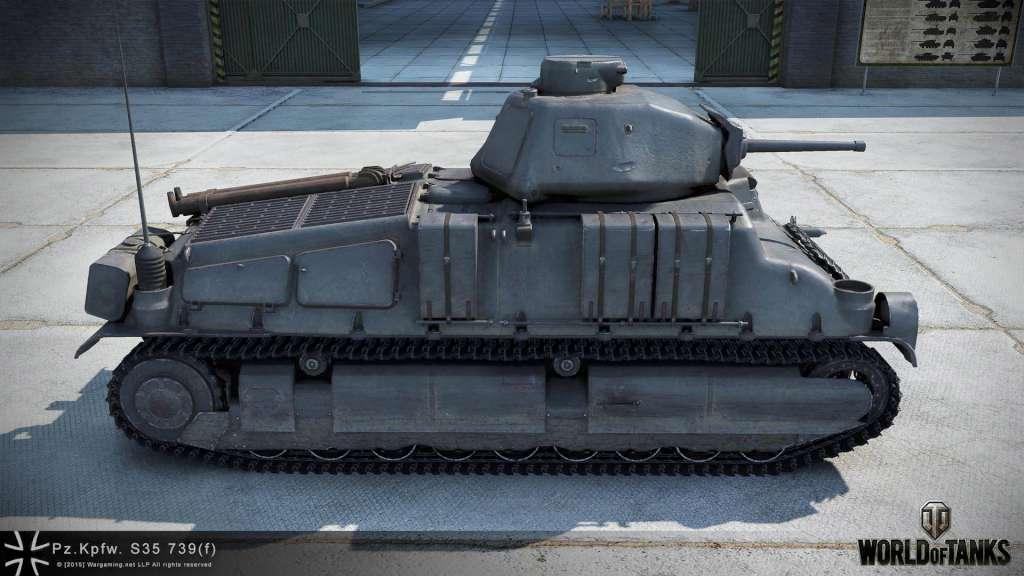 World of Tanks 350 Gold + Pz Kpfw  S35 739 (F) + Garage Slot + 7 Days  Premium EU/NA INVITE CODE