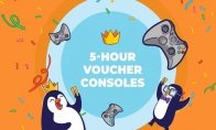 Voucher for 5 hours to play on Consoles for two players