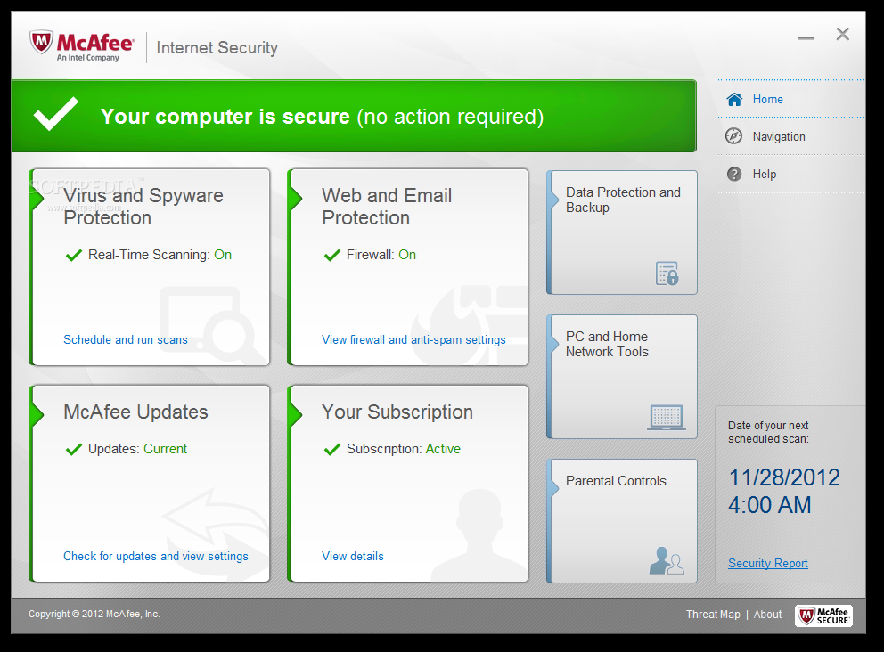mcafee internet security suite 2013 serial number