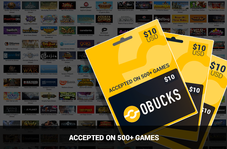 OBUCKS® Card USD $10   Kinguin - FREE Steam Keys Every Weekend!