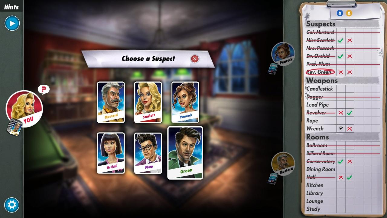 Cluedo Online Free Board Game