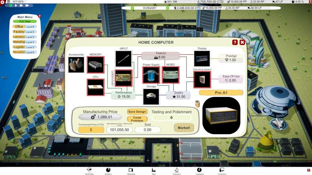 Computer Tycoon Steam CD Key