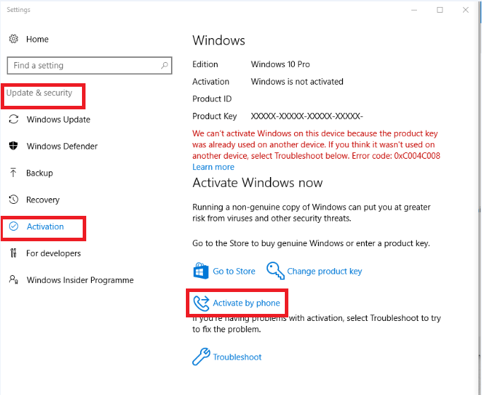 win 10 activation key